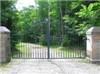 Ornamental garden wrought iron gate 1