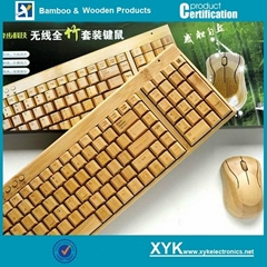 Environmental Bamboo Wooden  Wireless Keyboard Mouse