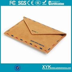 3.5 Inches Leather Postcard Pouch for iPhone 4 4S