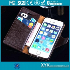Original vintage cow leather cover smart phone gift iPhone 5S shell