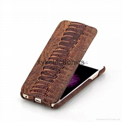iPhone 6/6S & 6/6S Plus cow leather case Amber Vein flip cover (Hot Product - 1*)
