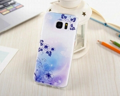 Colored drawing mobile tpu case for Samsung Galaxy S7 & S7 Edge soft cover