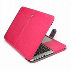 Apple laptop smart cover, notebook leather case Retina