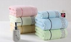 100% cotton towel, OEM 70*140CM bath towel