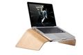 Aluminum holder wooden laptop stand