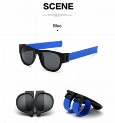 Silicone slap band sunglasses