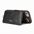 Man's wallet zipper smartphone leather case