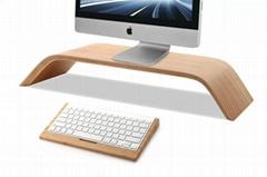 Universal wooden desktop stand