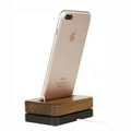 Metal+wooden iPhone charger dock