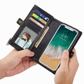 Magnetic case iPhone X sport wallet with side card slot