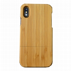 iPhone X 2 In 1 full wooden case