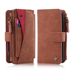 iPhone X Folio Cover Multi-functional Zipper Holster