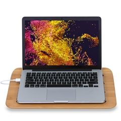 Bamboo Desk Laptop Leg Tray Stand