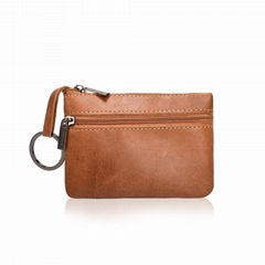 Mini Leather Wallet, Retro Europe Style Keys Coins Wallet
