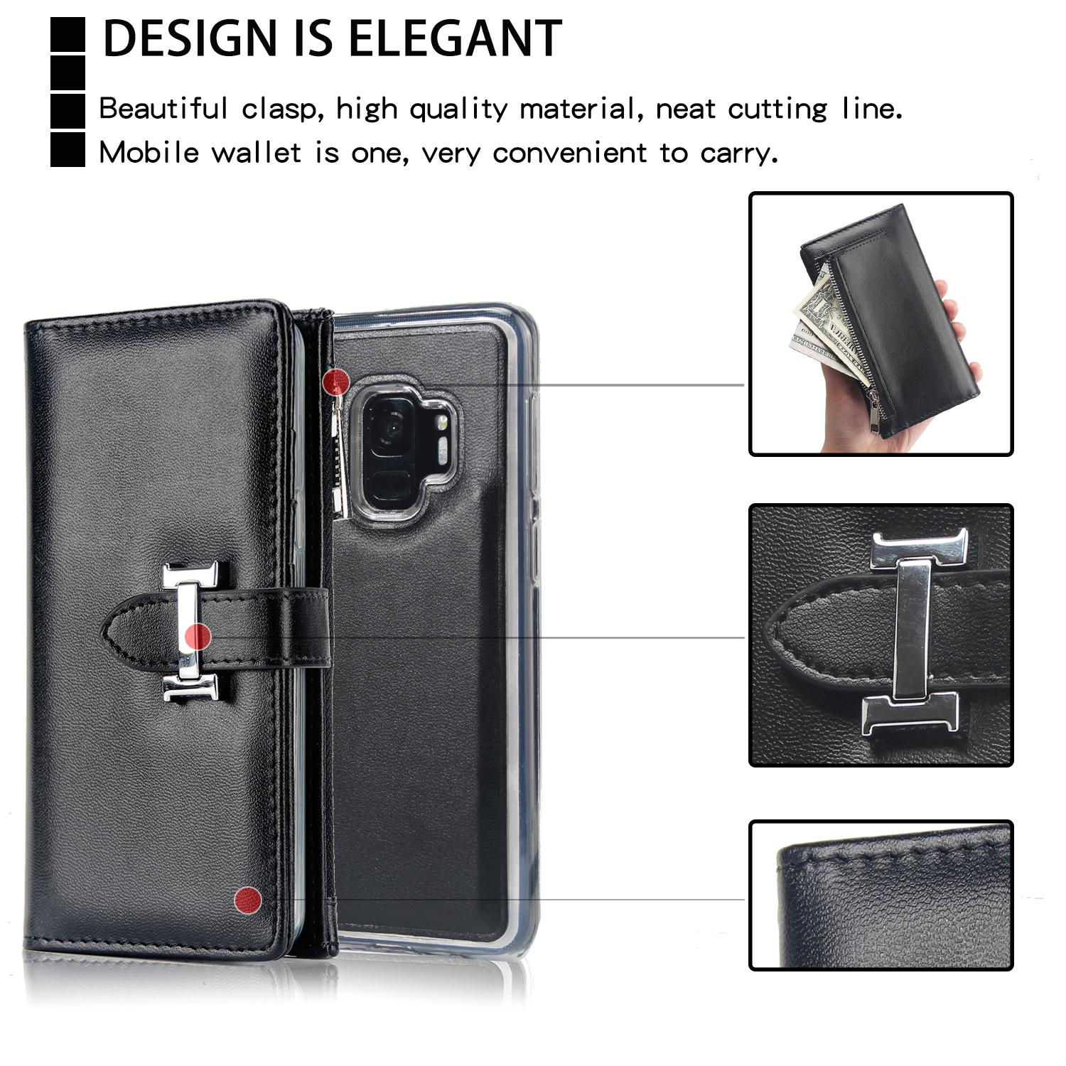 Samsung Galaxy S9 Two-in-One Removable Purse Wallet Case 10