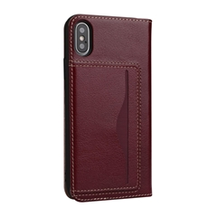 iPhone X Yak Skin Leather Case with Stand Card Slot