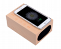 QI Wireless Charger Universal Wooden Bluetooth Speaker
