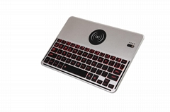Backlit Bluetooth Keyboard with Wireless Charger