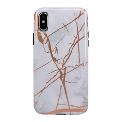 Airbag protection colision anti-fall gold stamping tpu marble case
