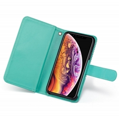 9 Card Slots Magnetic Case for iPhone XS Max Wallet