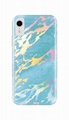 iPhone Xr phone cover holo chrome marble