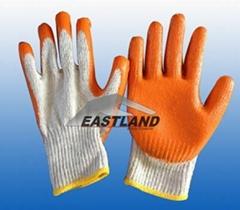 Labor Safety Latex Coated Nylon Gloves