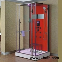 U-Bath Foshan tempered glass steam shower with ABS shower tray