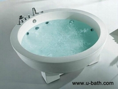 U-BATH CE, freestanding jacuzzCupc Approved Round Shaped Acrylic Massage Bathtub