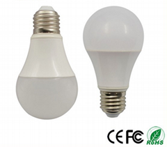 led lamps A60 9w aluminum + plastic led bulbs
