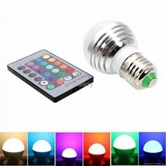 E27 3W 90-260V Magic RGB Colors Changing LED Light Bulb Remote Control Energy