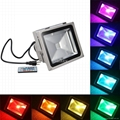 10W  RGB IP65 Outdoor Garden Floodlight For Landscape