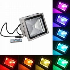10W  RGB IP65 Outdoor Garden Floodlight