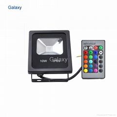 Remote 10W LED Waterproof IP65 RGB Floodlights Flood Lights + 24 keys IR Remote