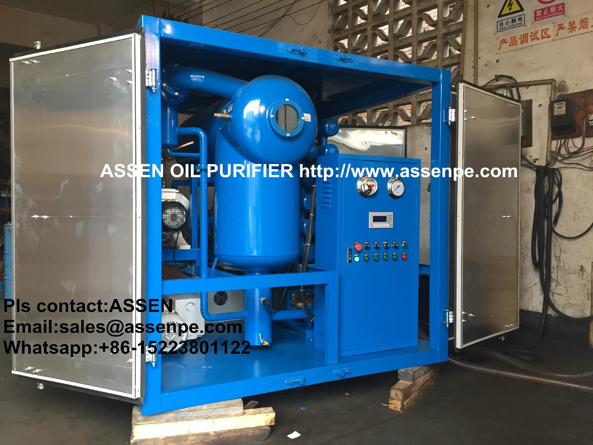 ASSEN High quality ZYD Double-stage Transformer Oil Purifier 1