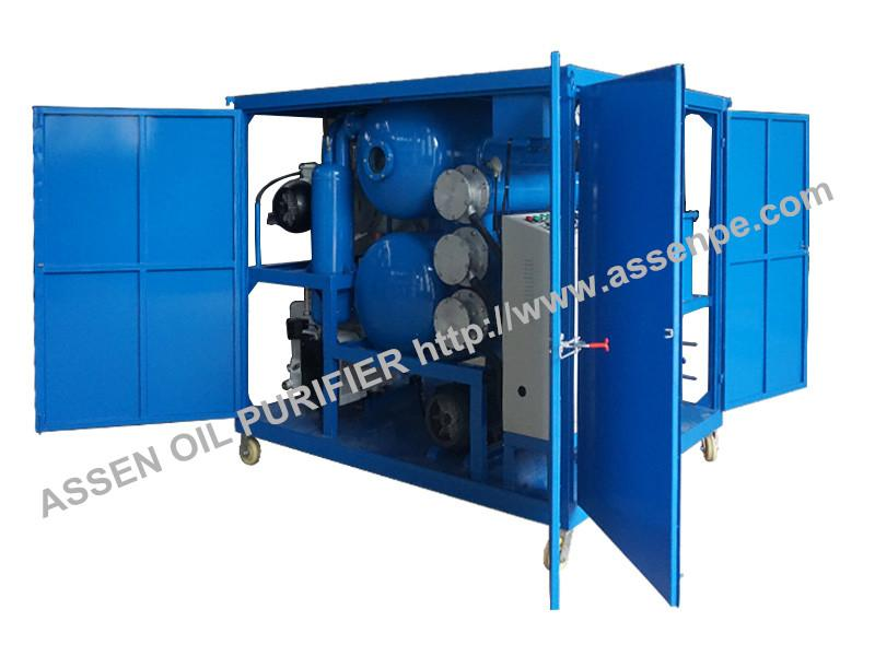 enclosed type high vacuum transformer oil purification system machine 1