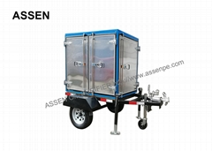 Trailer mounted transformer oil treatment plant,high vacuum oil purifying plant