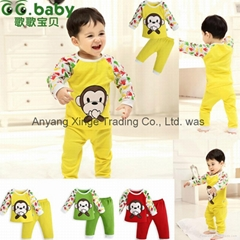 Cotton Spring Fall Baby Clothing Sets Fashion Newborn Shirt Pants Suits