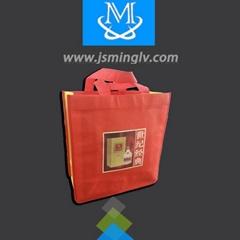 Disposable lamination non-woven wine shopping bag