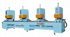 PVC window-doors double-faced seamless welding machine