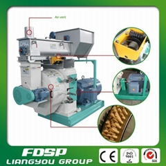 CE Certificated 1t/H Wood Pellet Mill with Siemens Motor