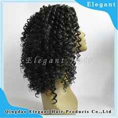high quality afro curly synthetic hair lace front wig wholesale