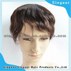 Natural wave Indian remy hair 6inch full lace men toupee