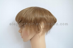 Unprocessed brazilian virgin hair super thin skin toupee for men