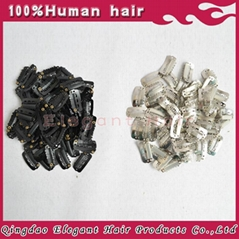Cheap metal hair clips for wig/toupee/hair extension