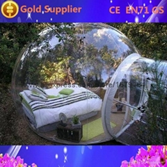 Inflatable Clear Dome Tent for Outdoor Camping
