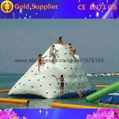 hot sale water park pvc inflatable pool iceberg iceberg float for climb