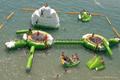 hot sale water park pvc inflatable pool iceberg iceberg float for climb 5