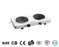2000W electric hot plate with two burner 1