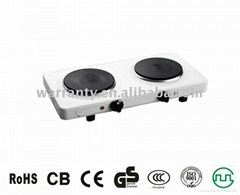 2000W electric hot plate with two burner