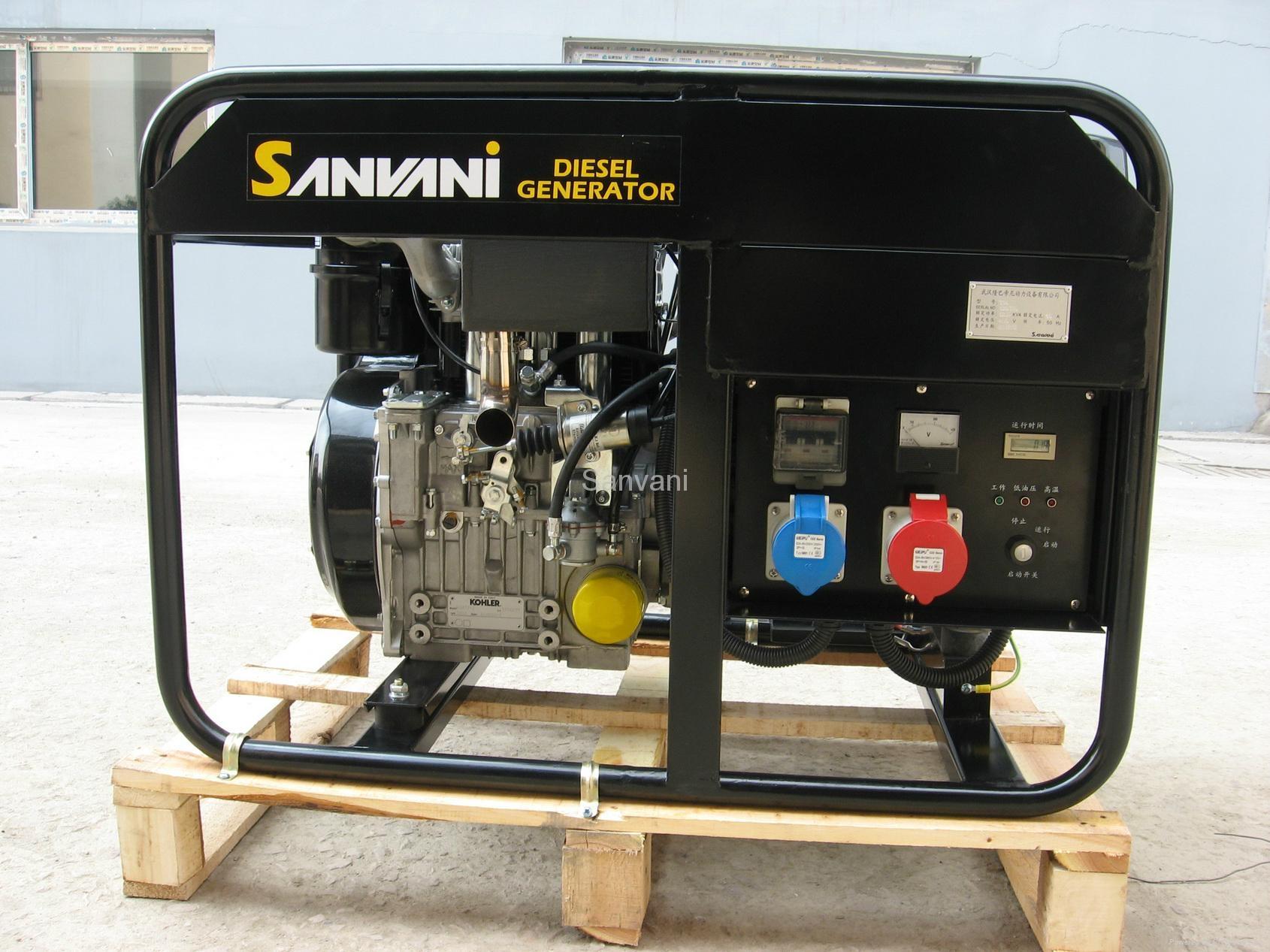 Diesel generator set 5 6 kva Sanvani China Manufacturer